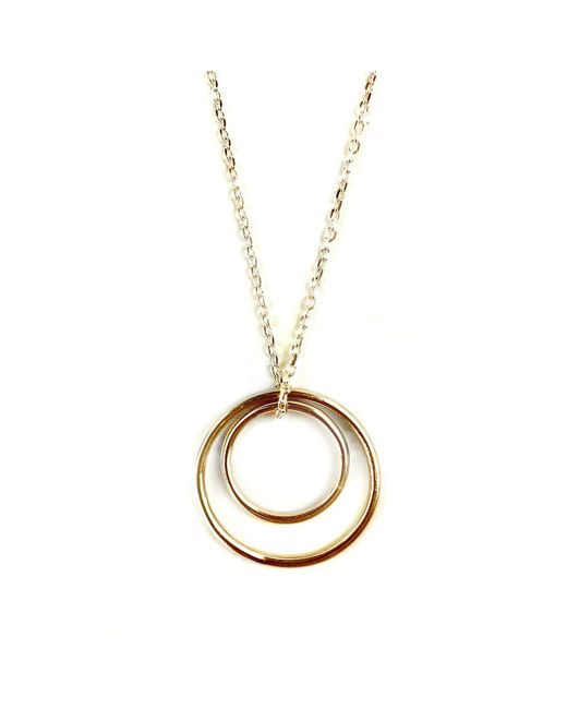 FRAN REGAN JEWELLERY - Metallic Pendant Vermeil Double Loop On Silver Chain - Lyst