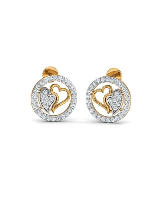 Diamoire Jewels 18kt Yellow Gold 0.34ct Pave Diamond Infinity Earrings I X73PZJFkP