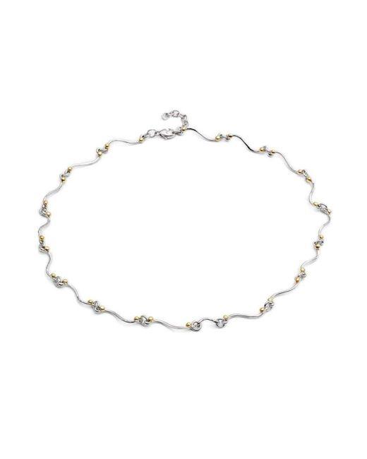 Gallardo and Blaine Designs - Metallic Silver And Gold Swirl Necklace - Lyst