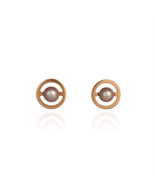Cara Tonkin - Multicolor Rose Gold Orbit Saturn Stud Earrings - Lyst