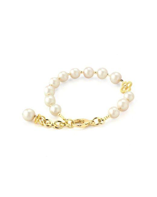 Elisa Ilana Jewelry - Metallic Yellow Gold, Pearl & Clover Lollies Bracelet   - Lyst