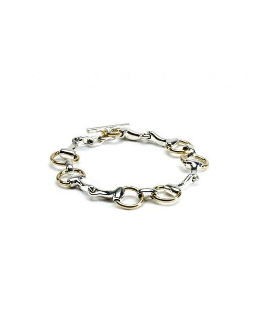 Hiho Silver - Metallic Sterling Silver & Brass Two Tone Snaffle Bracelet - Lyst