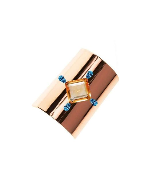 Augustine Jewels - Metallic Rose Gold Cuff - Lyst