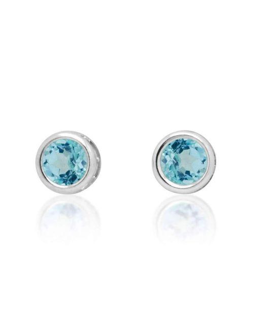 Designs by JAK - Susanne Sky Blue Topaz Stud Earrings - Lyst