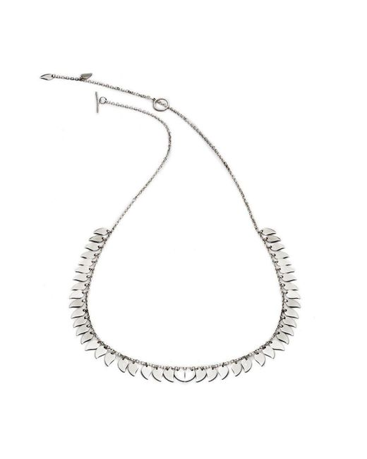 Chavin Couture - Metallic Silver Large Leaf Necklace - Lyst