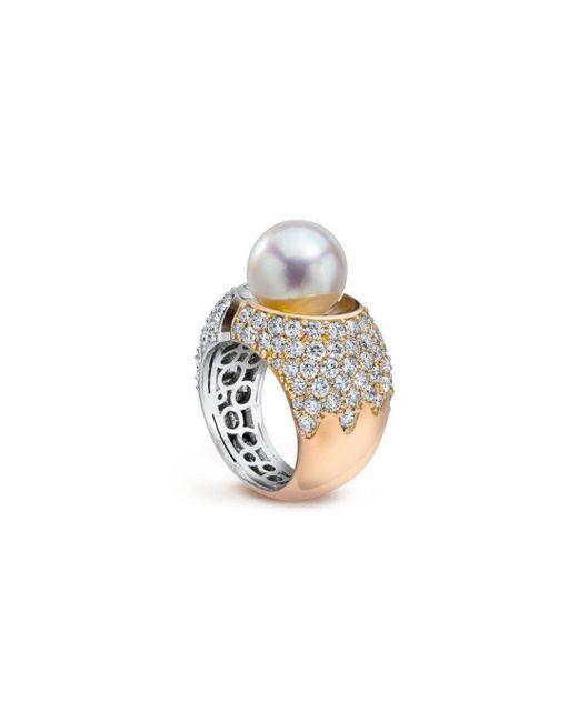 LJD Designs - Metallic Divided Ring - Lyst