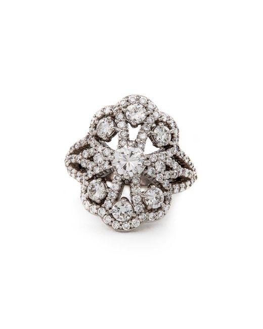 Katherine LeGrand Custom Goldsmith - Metallic Grand Diamond Lace Ring - Lyst