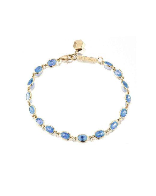Paolo Costagli New York - Multicolor Bezel Set Blue Sapphire Ombre Bracelet - Lyst