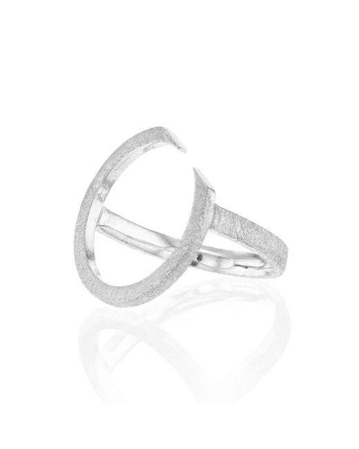 Ilda Design - Metallic Silver Ring With Circling Top - Lyst
