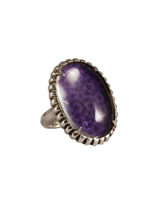 Luke Goldsmith - Silver Womens Material Girl Ring Purple - Lyst