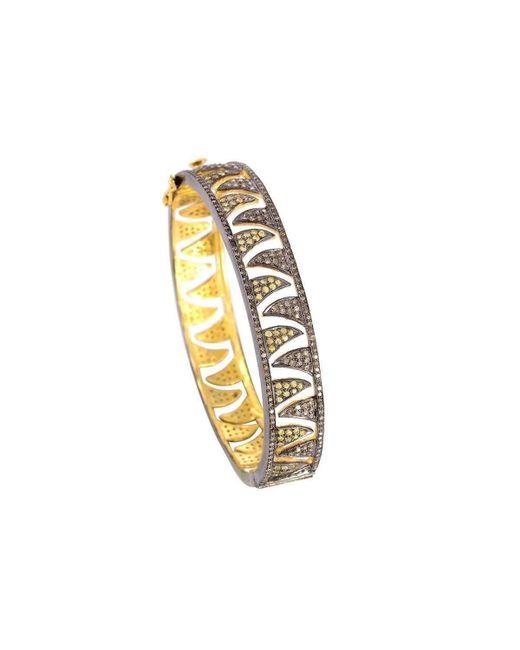 Meghna Jewels | Metallic Claw Gold And Black Bangle | Lyst