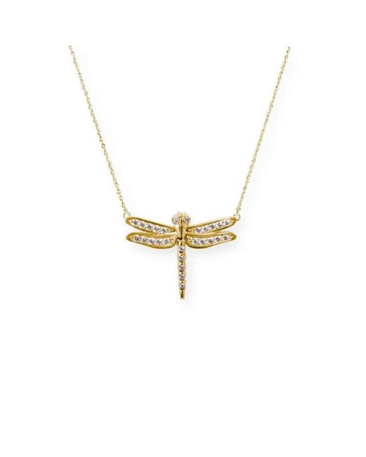 J.Herwitt | Metallic Small Dragonfly Necklace | Lyst