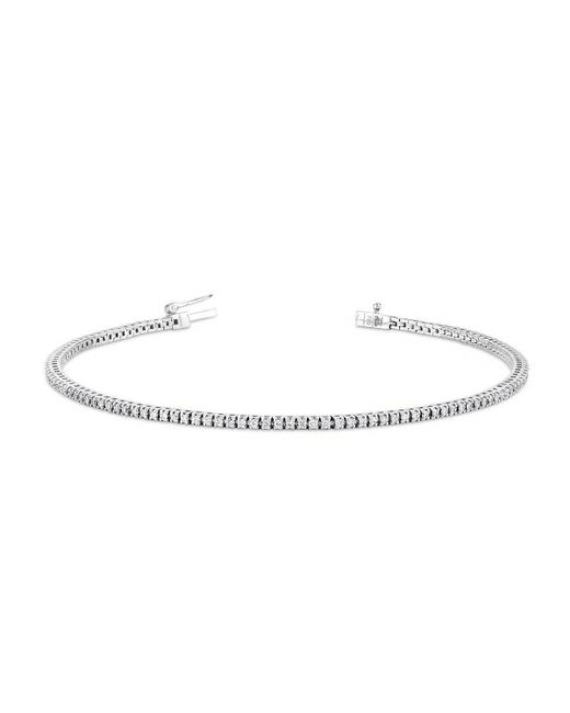 Verifine London - Pink Diamond Line Bracelet In 18ct White Gold - Lyst