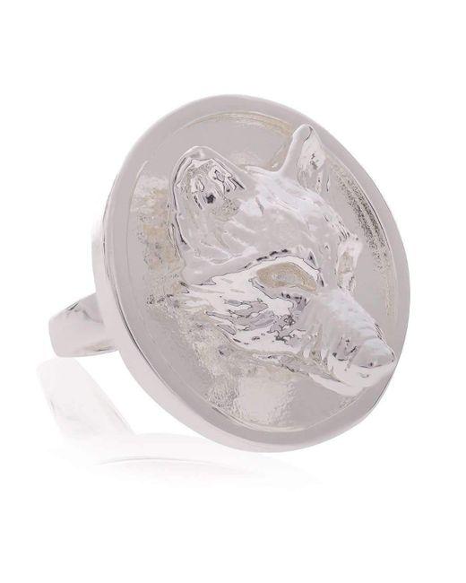 Alexa K - Metallic Silver Big Signature Ring - Lyst
