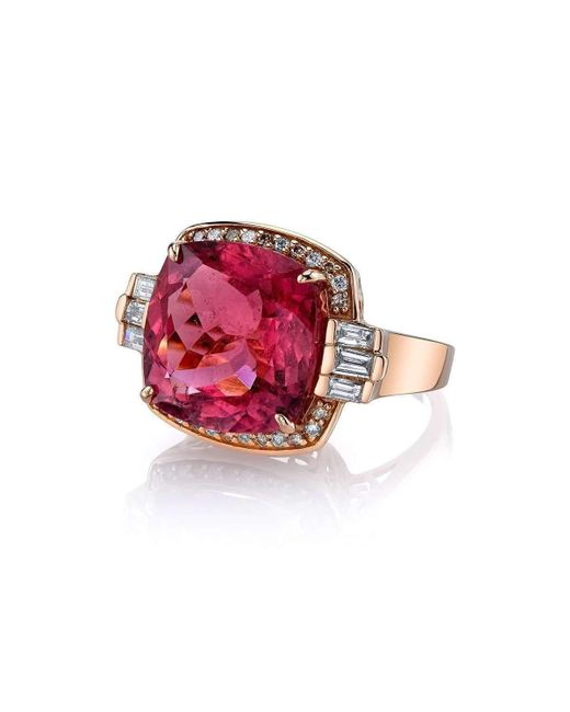 Bochic | Red Rubellite Retro Cocktail Ring | Lyst