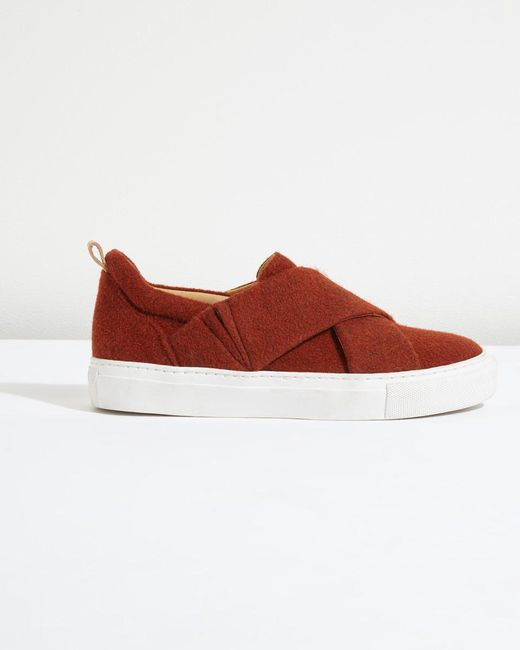 Jigsaw | Red Olivia Felted Wool Trainer | Lyst