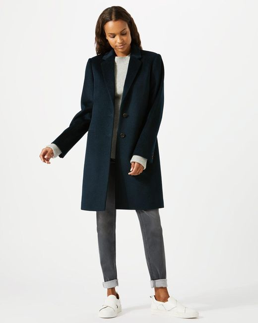 Jigsaw - Multicolor Single Breasted City Wool Coat - Lyst