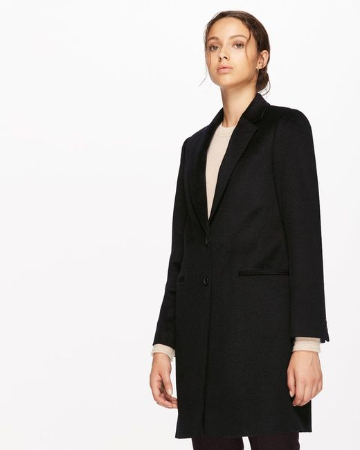 Jigsaw | Black Single Breasted City Wool Coat | Lyst