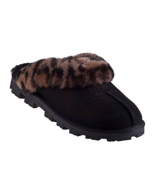 Ugg   Coquette Slipper Leopard/black Suede   Lyst