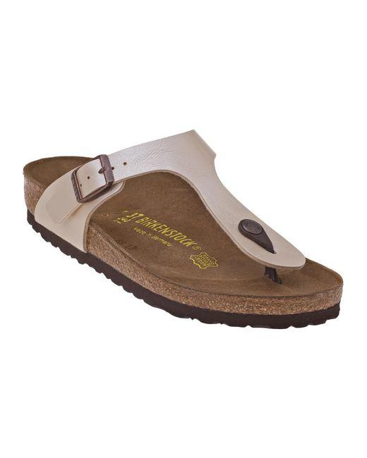 Birkenstock | White Gizeh Patent Sandals | Lyst