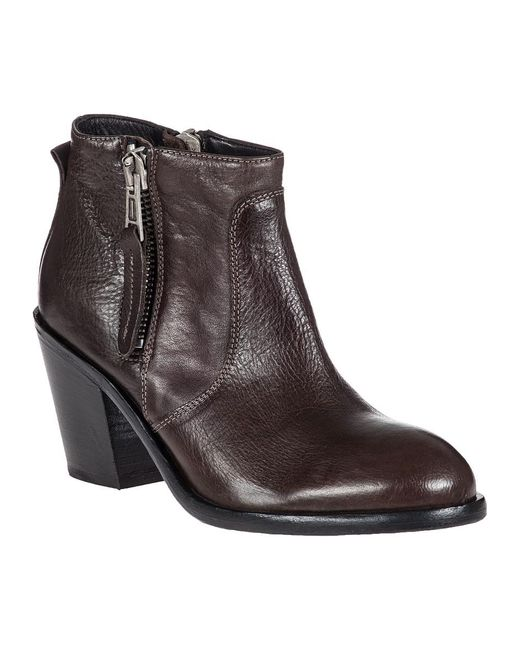 275 Central | Brown Adam Leather Ankle Boots | Lyst