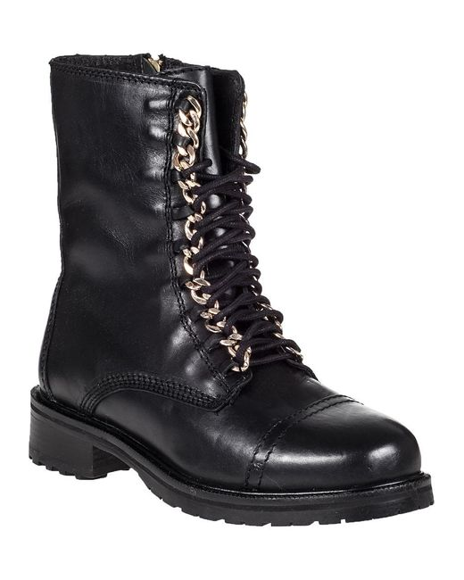 Steve Madden | 2-chain Lace-up Boot Black Leather | Lyst