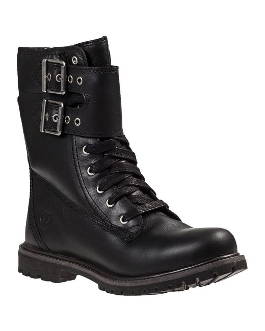 timberland earthkeepers lace up boots black leather in