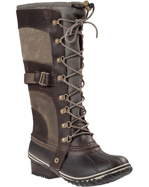 Sorel | Conquest Carly Snow Boot Brown | Lyst