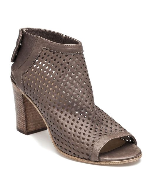 275 Central   Brown Perforated Bootie Taupe Leather   Lyst