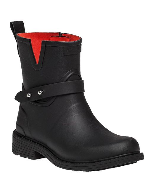 Rag & Bone | Black Moto Rain Boot | Lyst