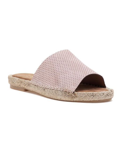275 Central   Natural Mali-pf Nude Suede Slide   Lyst