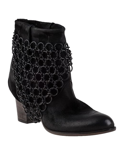 275 Central | Elkan Ankle Boot Black Leather | Lyst