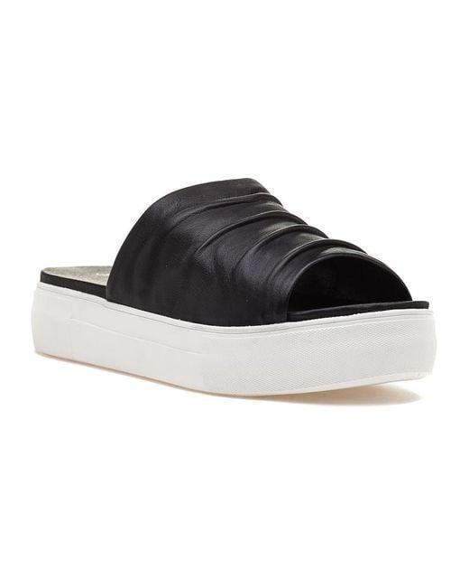 J/Slides | Alura Black Leather Slide | Lyst
