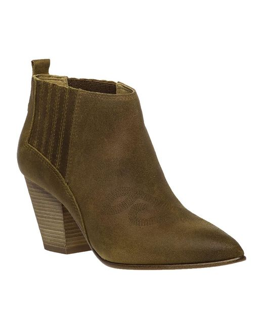 Belle By Sigerson Morrison | Green Young Leather Ankle Boots | Lyst