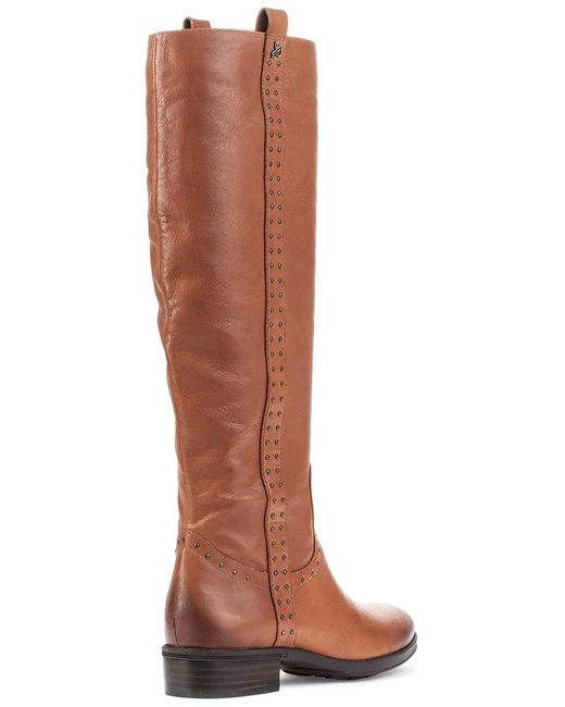 524a63f578d7 ... Sam Edelman - Brown Prina Boot Whiskey Leather - Lyst ...