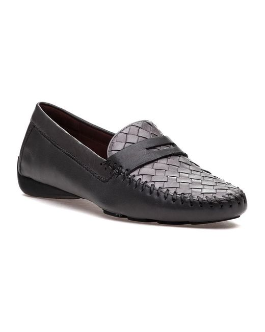 Robert Zur   Gray Petra Charcoal/ice Leather Loafer   Lyst