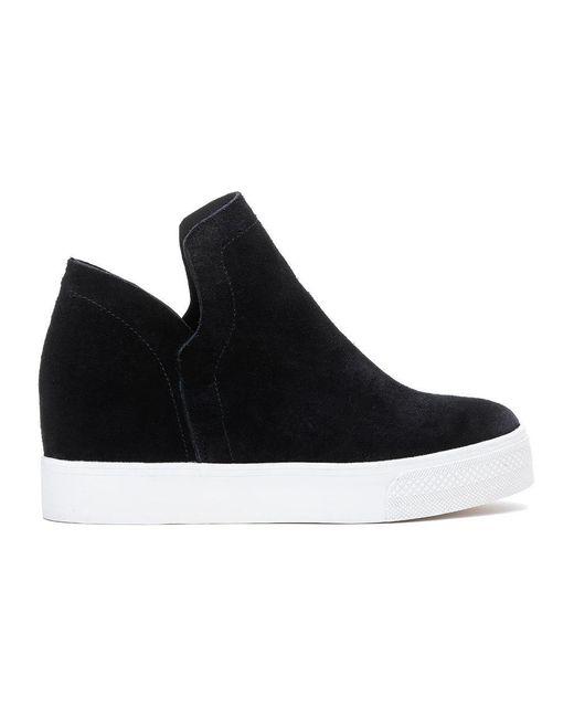 c61bb918f62 Lyst - Steve Madden Wrangle Sneaker Black Suede in Black - Save 1%