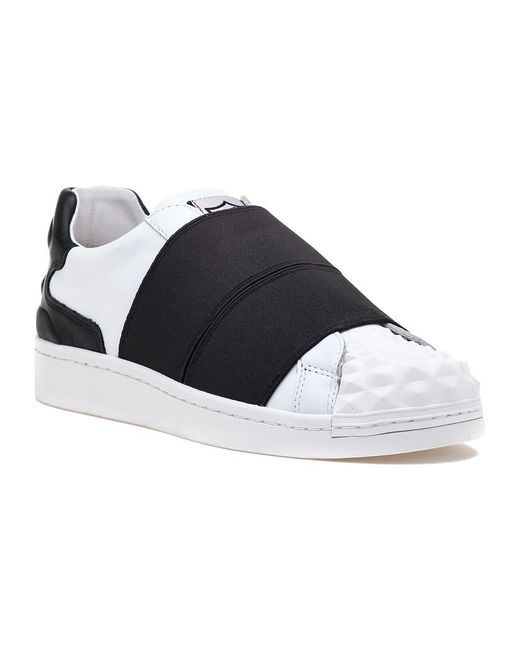 Ash | Clip White/black Leather Sneaker | Lyst