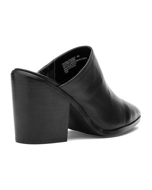 339b309791c Lyst - Steve Madden Savina Mule Black Leather in Black - Save 20%