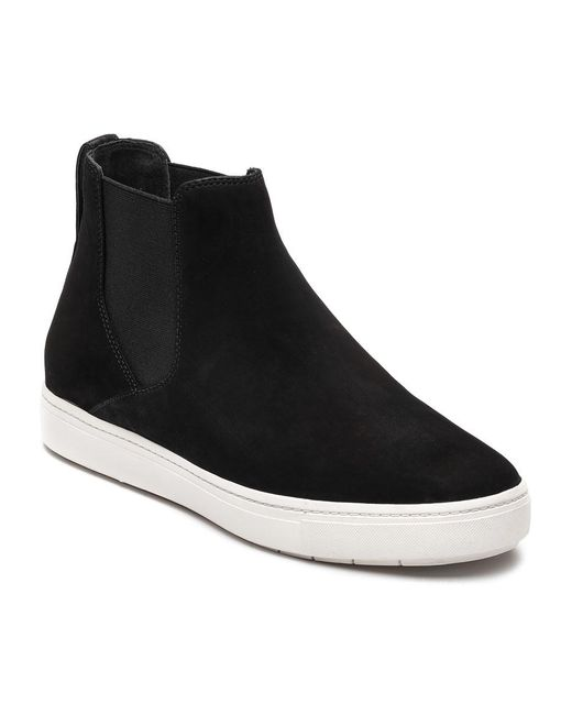 Vince | Black Newly Suede Pull-On Sneakers | Lyst