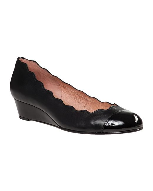French Sole | Miles Wedge Pump Black Leather | Lyst