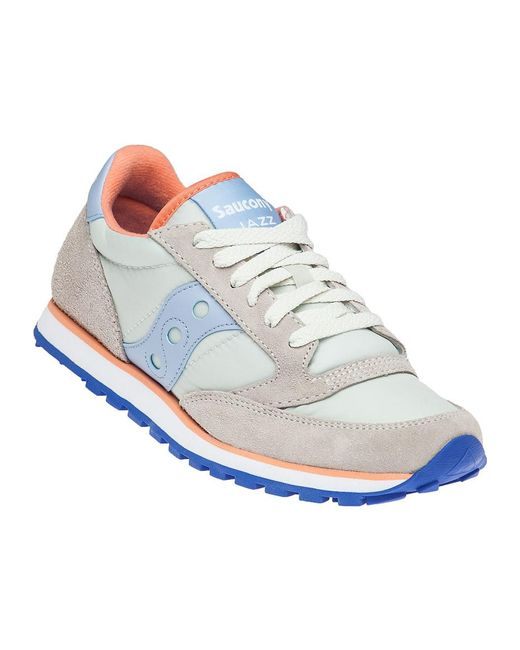Saucony | Jazz Lo Pro Off White/light Blue Sneaker | Lyst