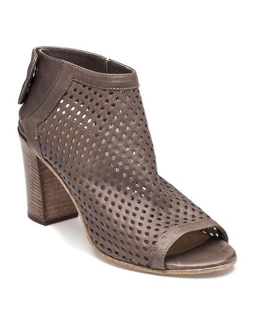 275 Central | Brown Perforated Bootie Taupe Leather | Lyst