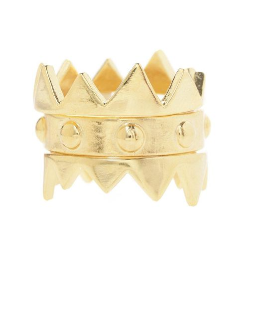 Jill Golden | Yellow Crown Stacking Rings | Lyst