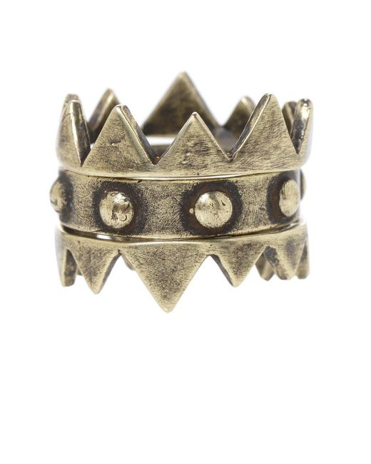 Jill Golden | Metallic Crown Stacking Rings | Lyst