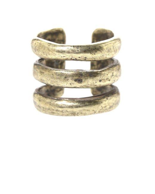 Jill Golden | Metallic Triple Band Ring | Lyst
