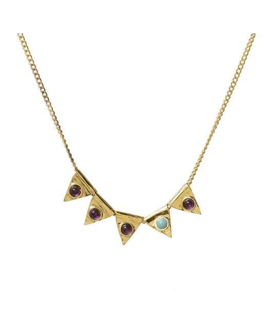 Jill Golden | Metallic Triangle Bead Cabochon Necklace | Lyst