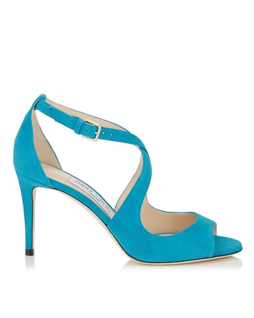 Jimmy Choo | Blue Emily 85 | Lyst