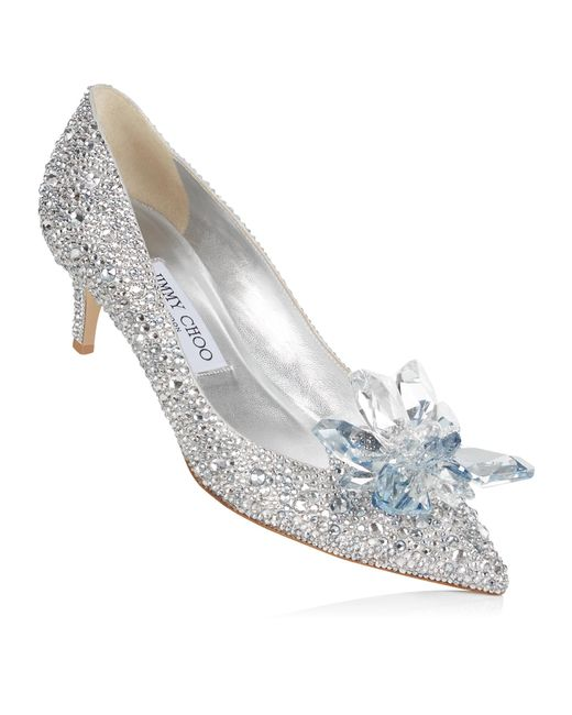 7c415bf61e9 ... Jimmy Choo - Metallic Allure Crystal Covered Pointy Toe Pumps - Lyst ...
