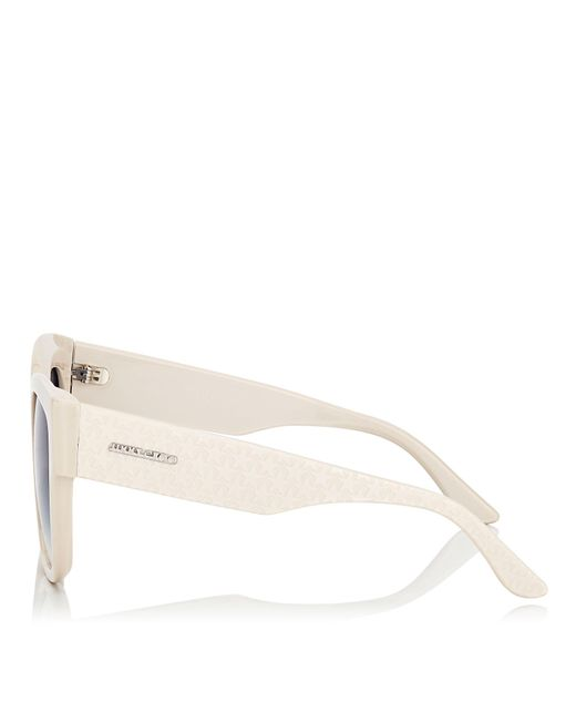 bec42e25d6 Jimmy Choo. Women s Blue Roxie Ivory Oversized Sunglasses With Star  Detailing